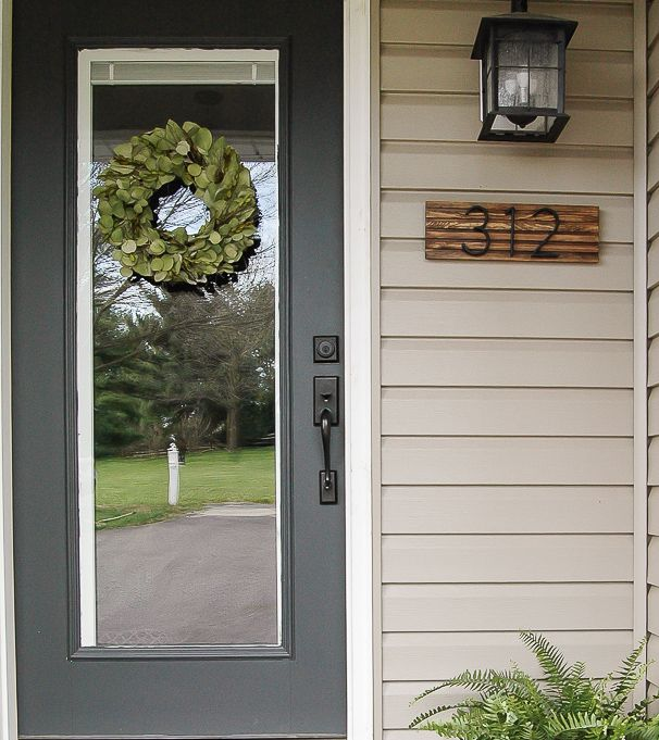 DIY Outdoor Decor Projects -- house numbers