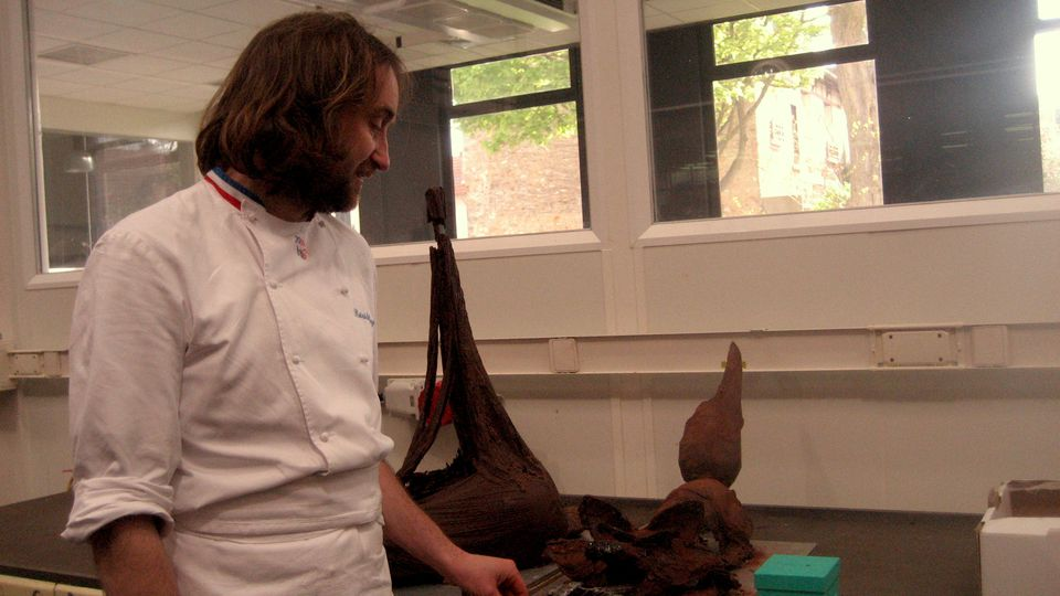French chocolate master Patrick Roger at his workshop in Paris.