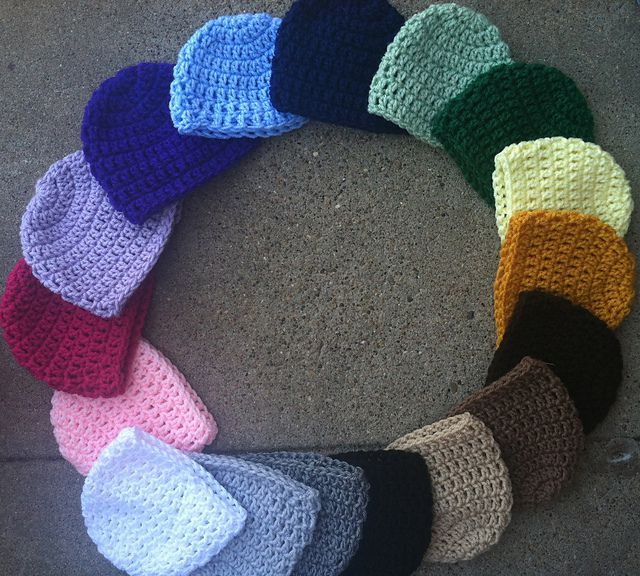 Basic Crochet Beanie Free Pattern
