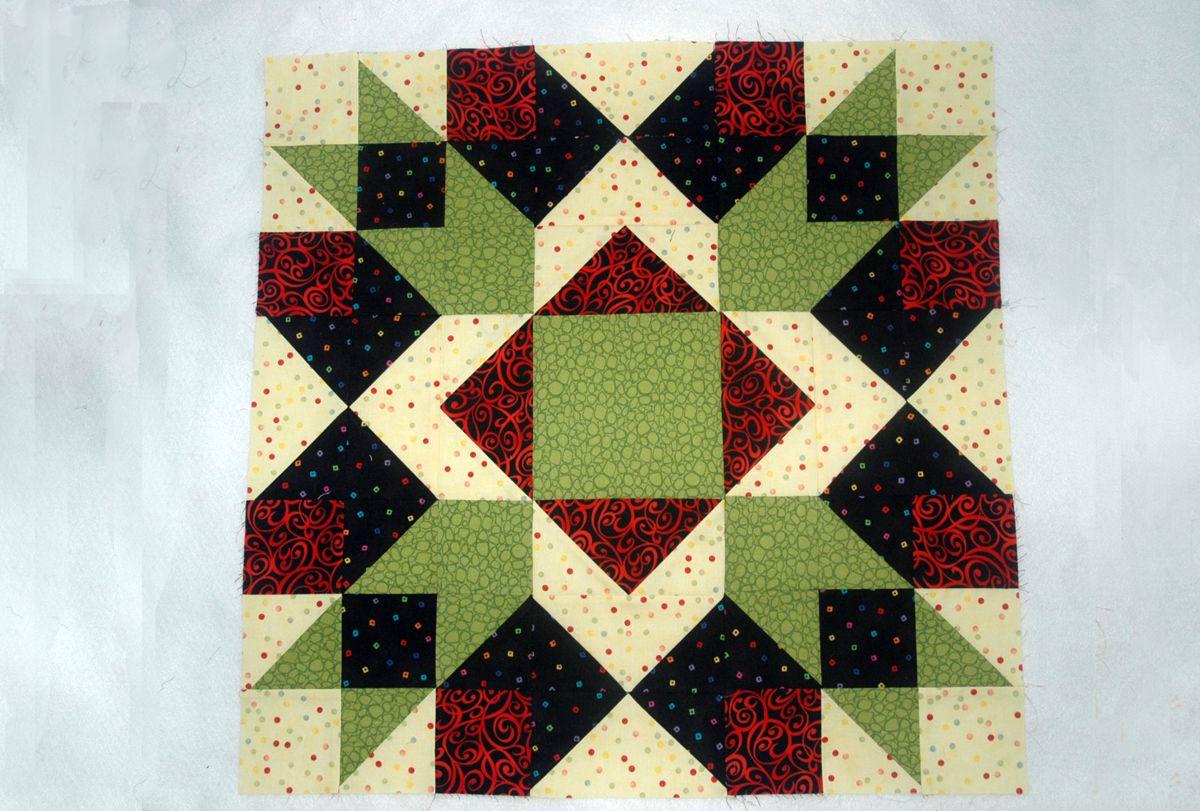 Arrow Crown Quilt Block Pattern