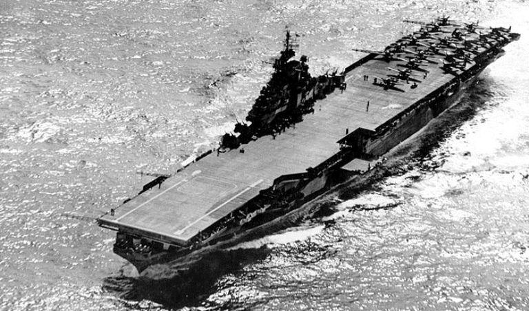 USS Hancock in 1944