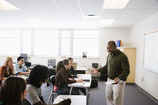 Teacher Communicating with Class