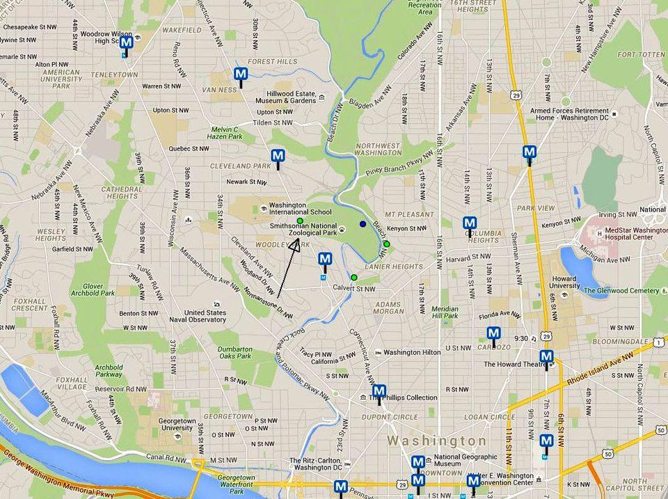 National Zoo Maps and Directions Washington DC