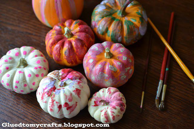 painted pumpkins for toddlers