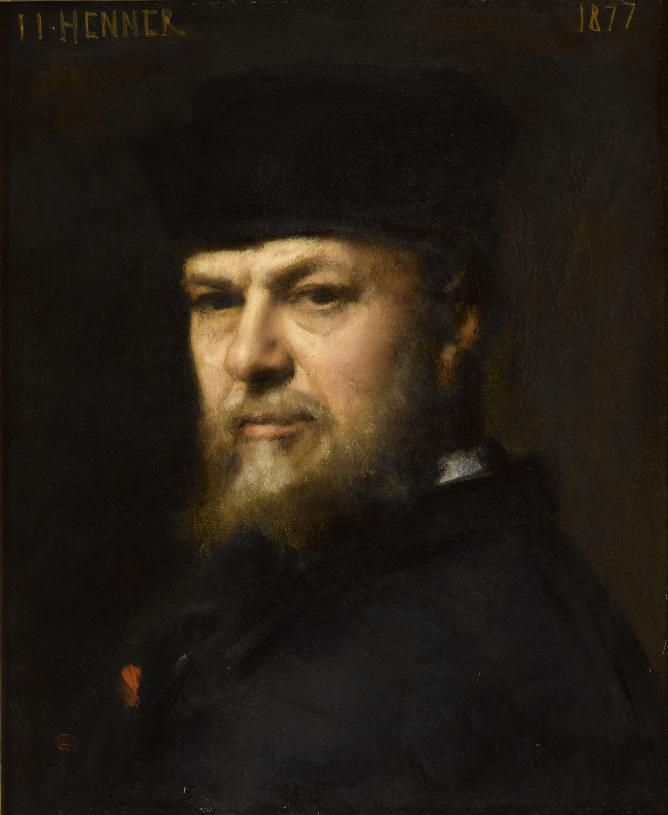 Henner, 1877 Self-portrait, replica of painting in the Uffizi museum