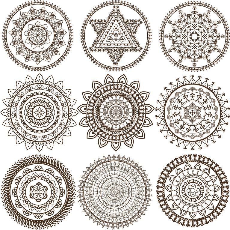 Mehandi Mandala Design Getty Images