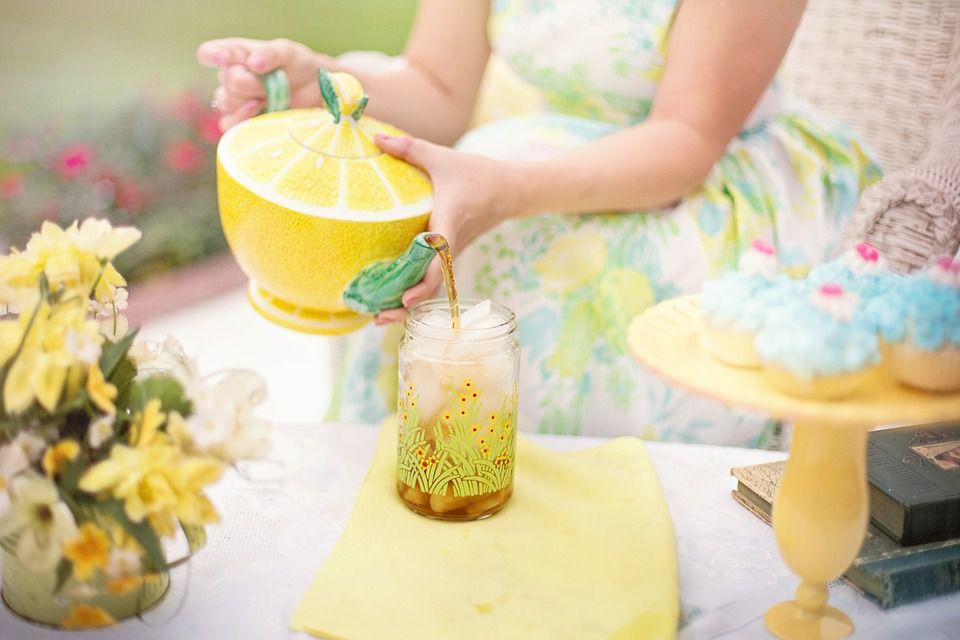Backyard tea party picnic