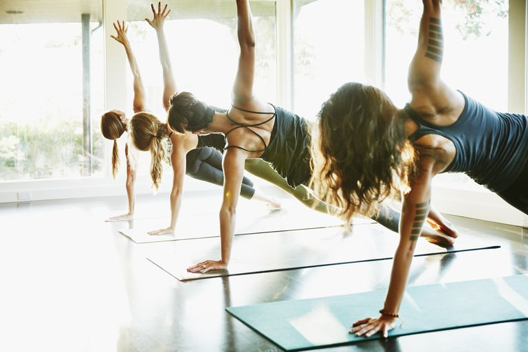 Afternoon yoga class