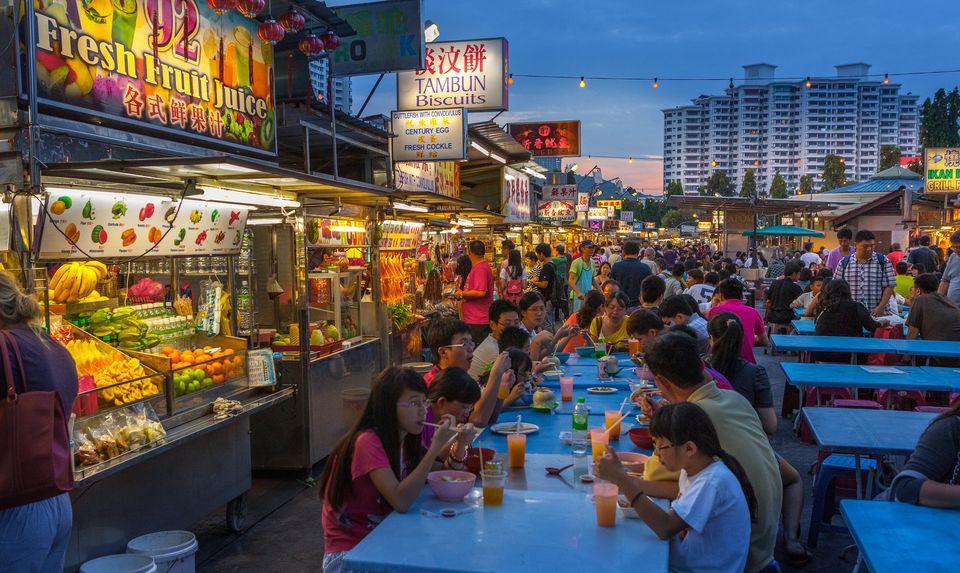 Street food along Gurney Drive in Penang, Malaysia