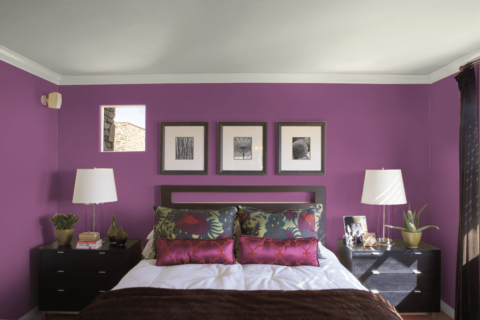 Purple and pink bedroom home design for Purple and pink room decorating ideas