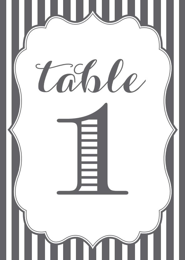 Template for table numbers demirediffusion 107 sets of free printable wedding table numbers maxwellsz