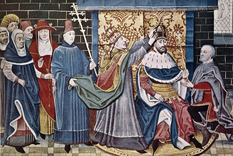 Charlemagne Crowned by Pope Leo III, December 25th, 800