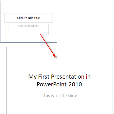 PowerPoint 2010 Title Slide