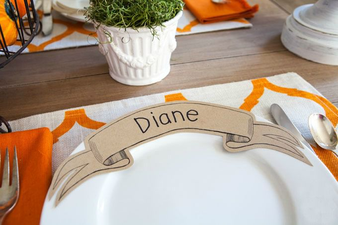 paper ribbon place card