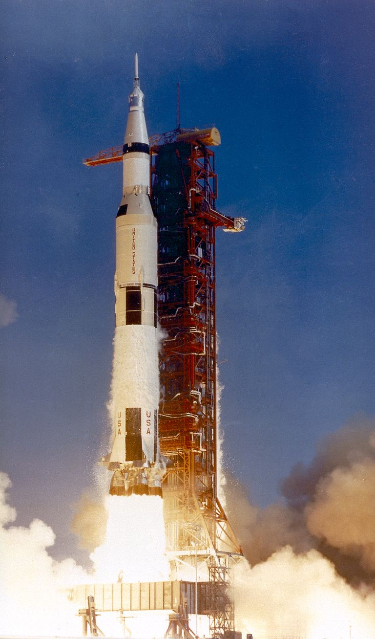 Apollo 11 Getting Ready to Take Off on Its Historic Mission to the Moon
