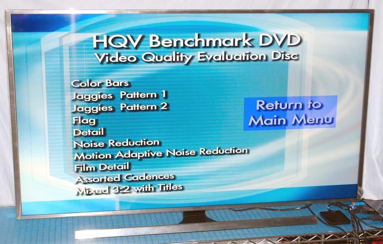 HQV Benchmark DVD Video Quality Evaluation Test List - Samsung UN55JS8500