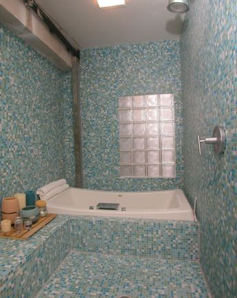 glass mosaic tile shower photo gallery