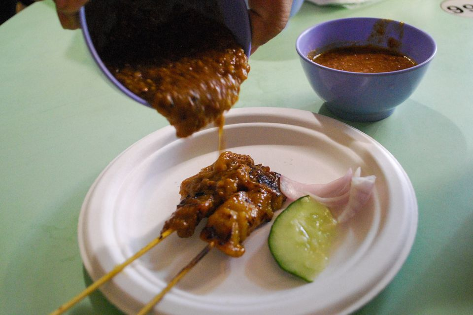 Chuan Kee satay from Old Airport Road Hawker Center