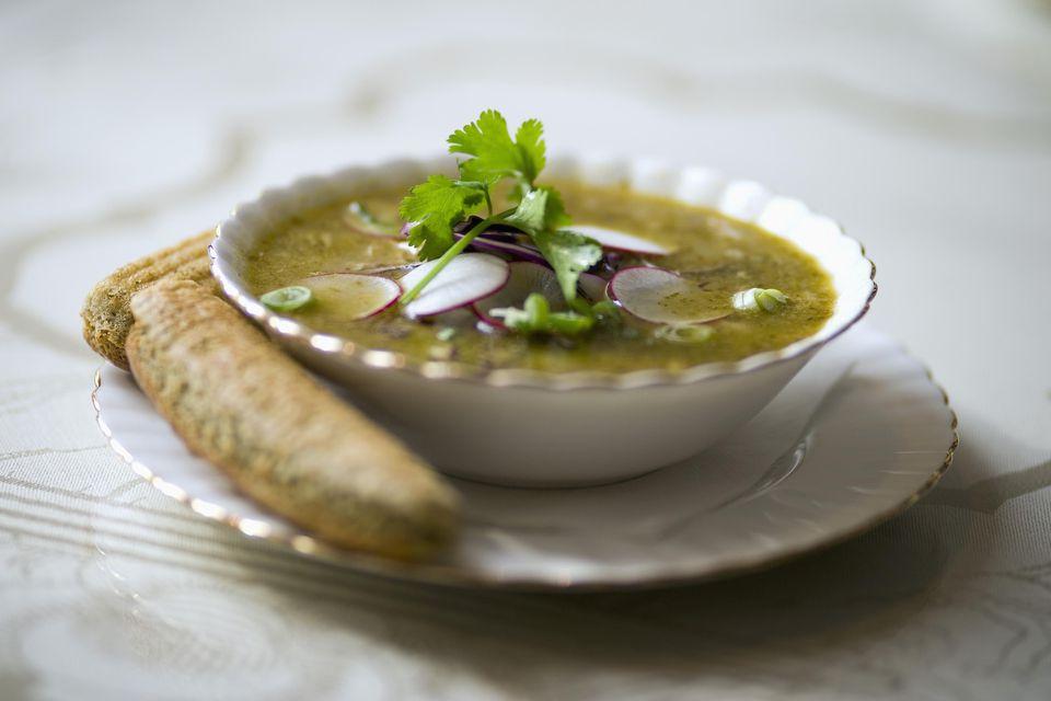 Posole soup with cornbread