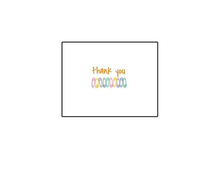 Free, Printable Baby Shower Thank You Cards