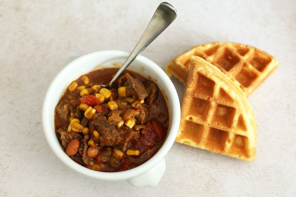 Chili Beef Stew With Beans and Corn
