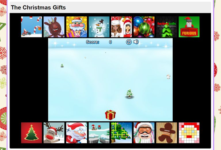 A screenshot of the game Christmas Gifts