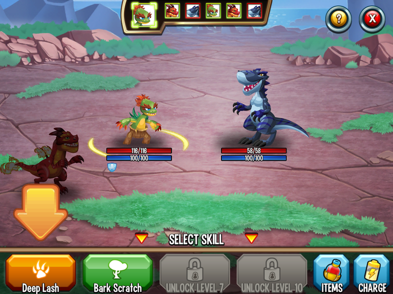 Monster Legends battle