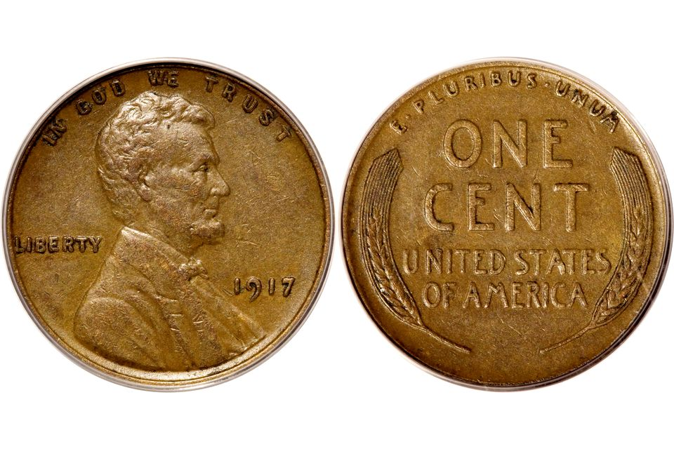1917 Lincoln Cent Graded EF 40