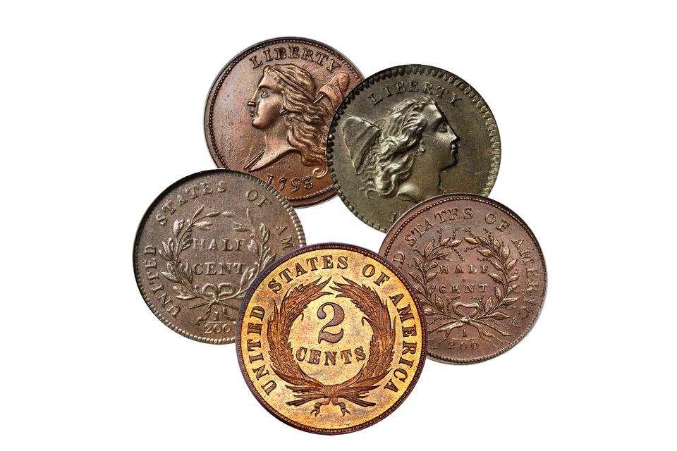 Copper Coins of Different Colors