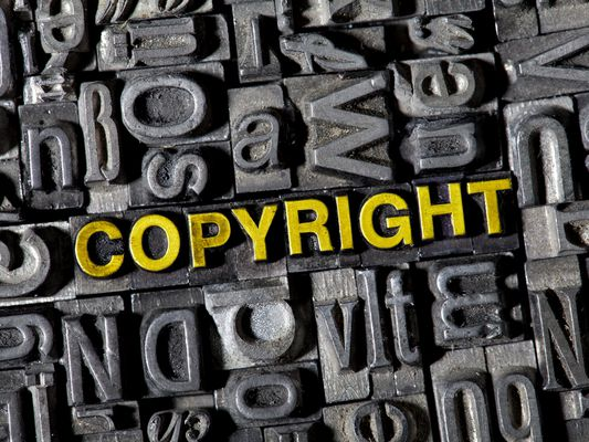 typecase letters spelling copyright