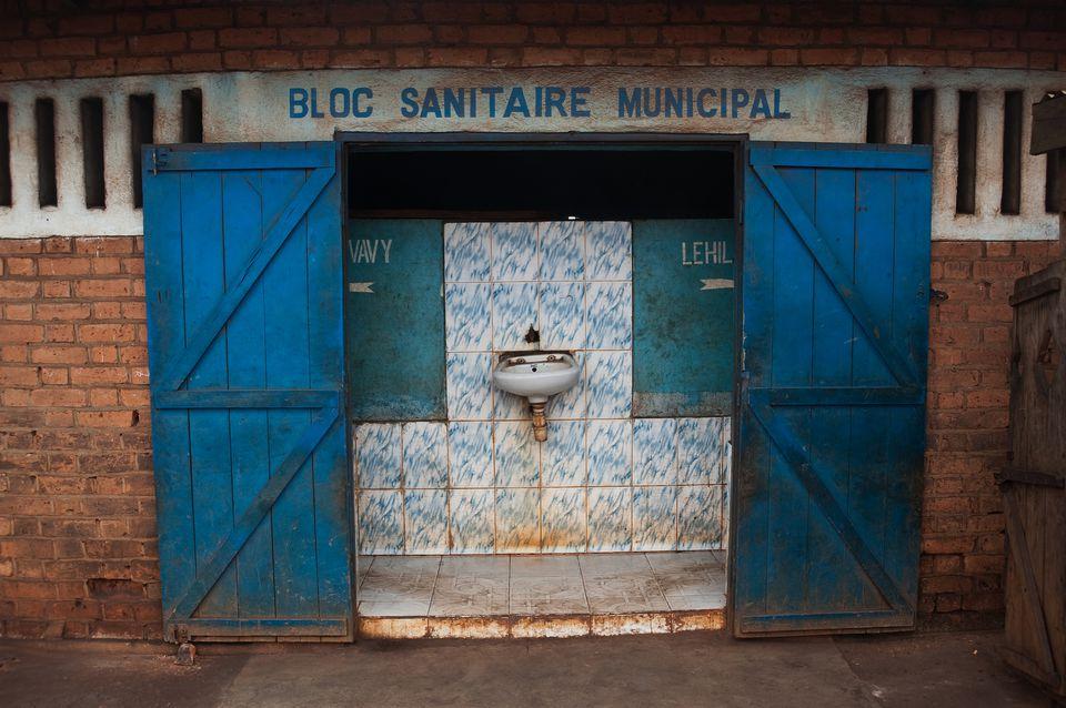 Public toilet in Madagascar
