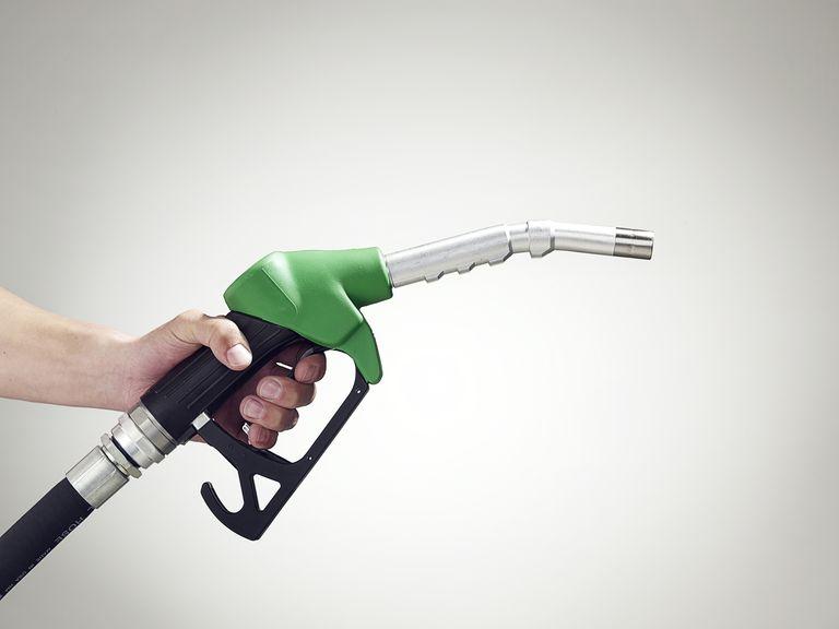 gas pump in hand
