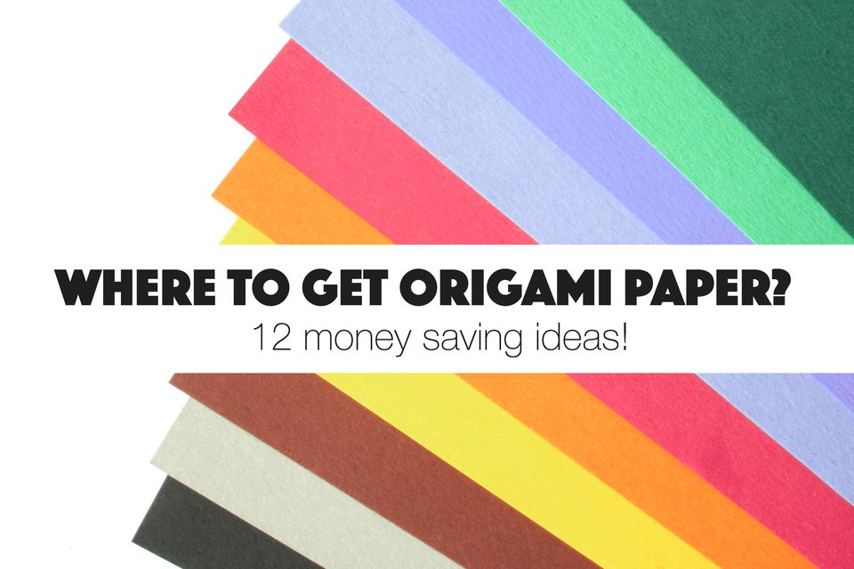 where to get origami paper #savemoney #origamipaper #origami #paper