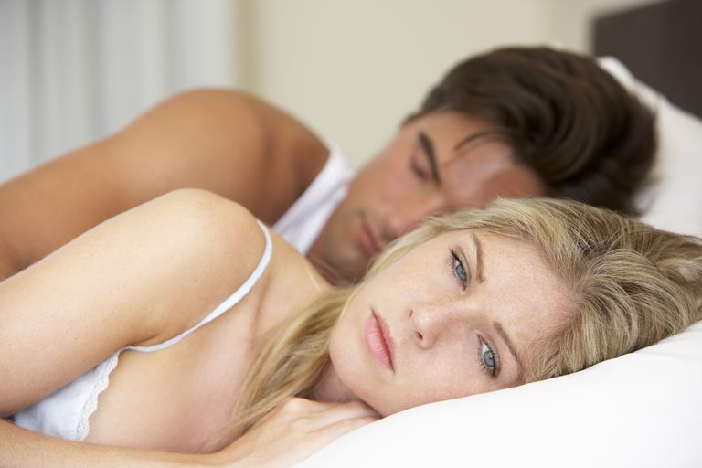 Woman has trouble sleeping due to anxiety over fertility tests