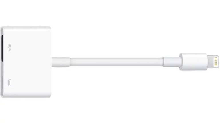 Apple's Digital AV Adapter is a wired method for connecting your iPad to your TV.