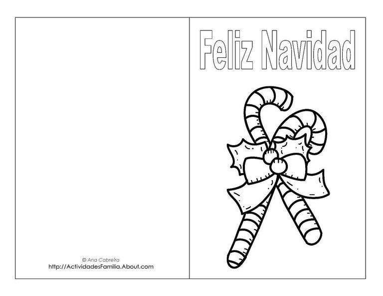 Tarjetas de navidad para imprimir y colorear for Dibujos para tarjetas navidenas