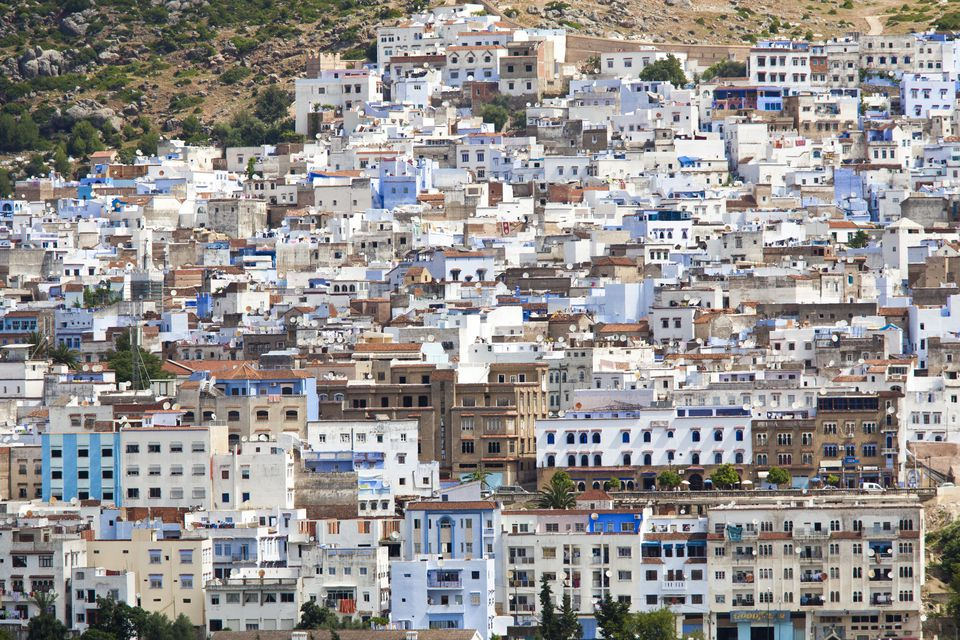 The colourful town of Chefchaoeun, Morocco