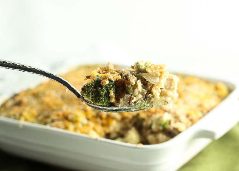 Low Sodium Cheesy Chicken, Broccoli, And Wild Rice Casserole-7198