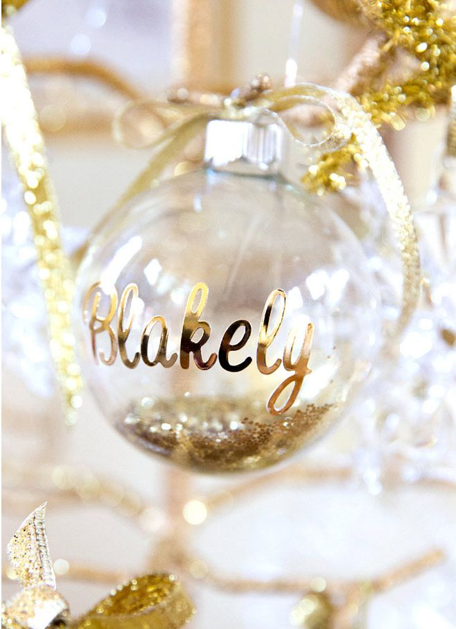 How to fill and customize clear glass ornaments