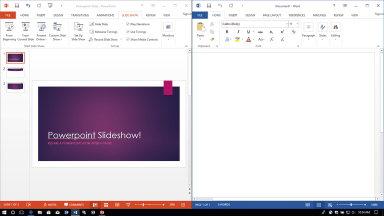 Use Multiple, Arranged, or Split Windows in Microsoft Office