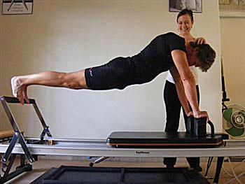 Before and After Correcting a Pilates Reformer Exercise