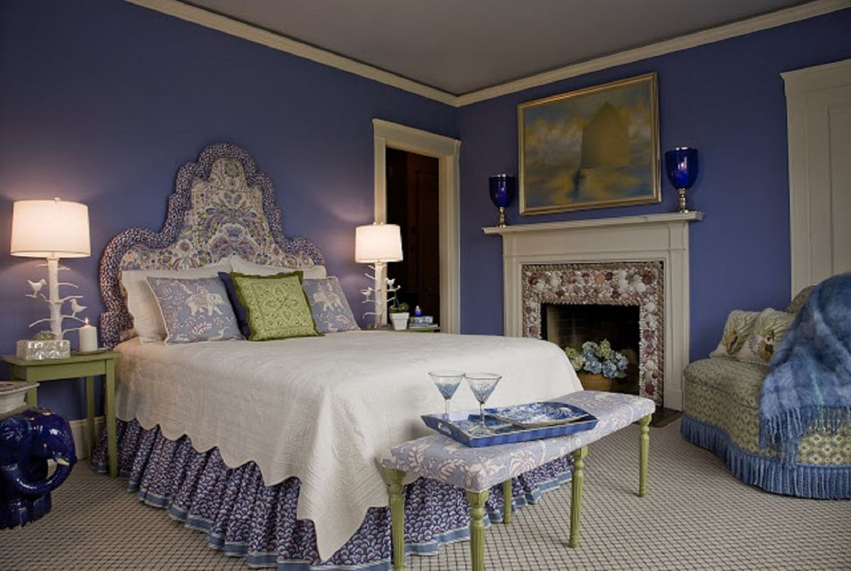 Decorating the bedroom with green blue and purple Purple and blue room
