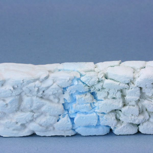 Scale model stone walls from foam for Stone wall insulation
