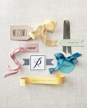 Free printable wedding favor tags set of six wedding favor tags from martha stewart negle Gallery