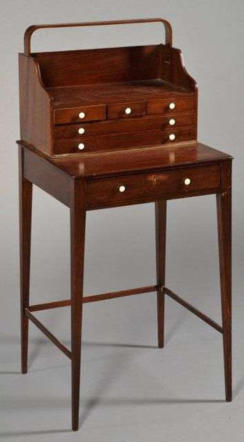 Desk Styles identifying antique writing desks and storage pieces