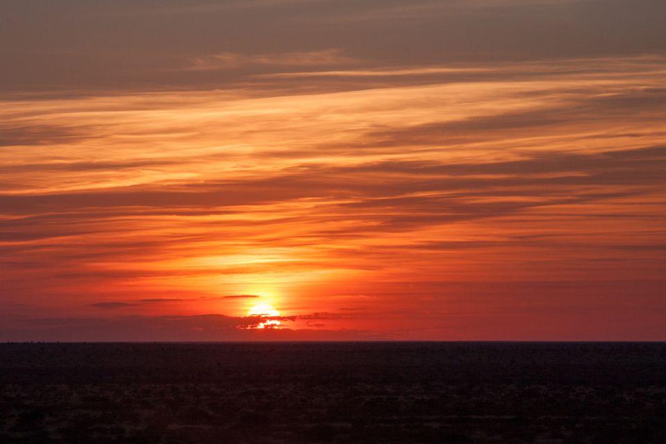 Tswalu sunset