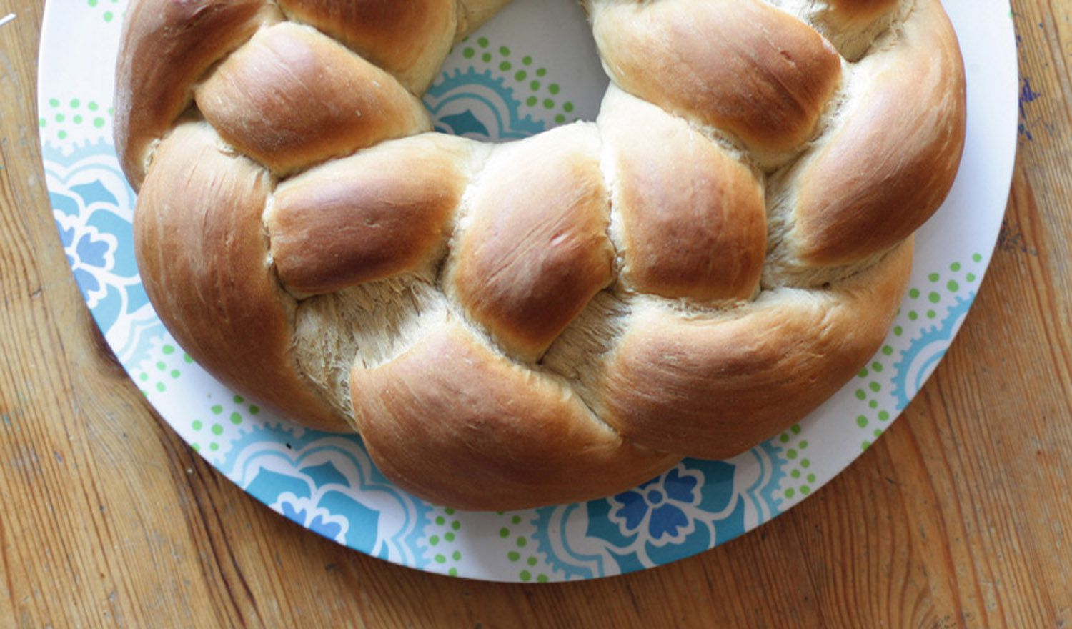 Homemade Braided Yeast Bread With Sweet Filling