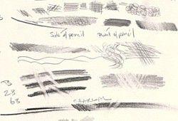 pencil mark making