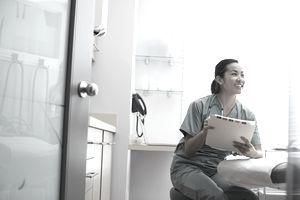a nurse in a doctor's office