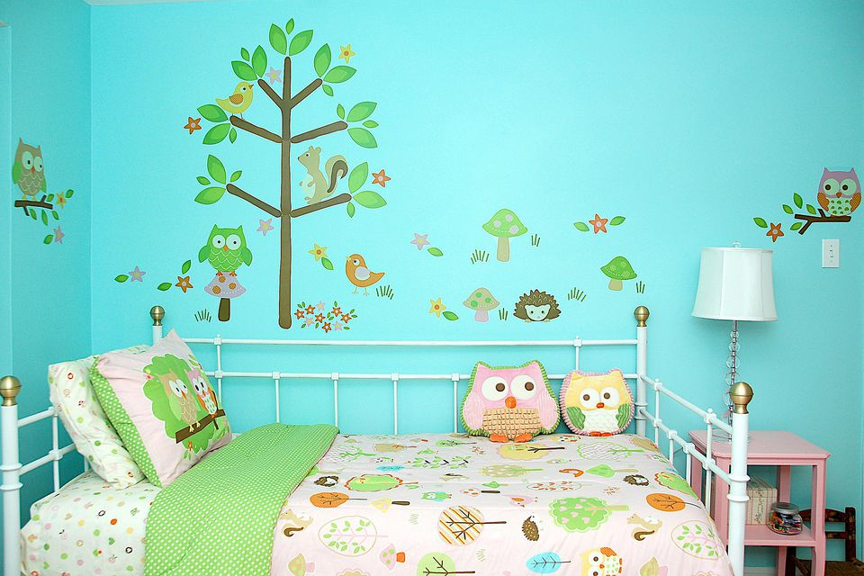 Use wall stencils in a child's bedroom.